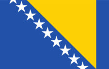 Gästflagga Bosnien