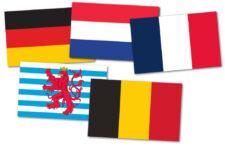 Gästflaggor Europas kanaler